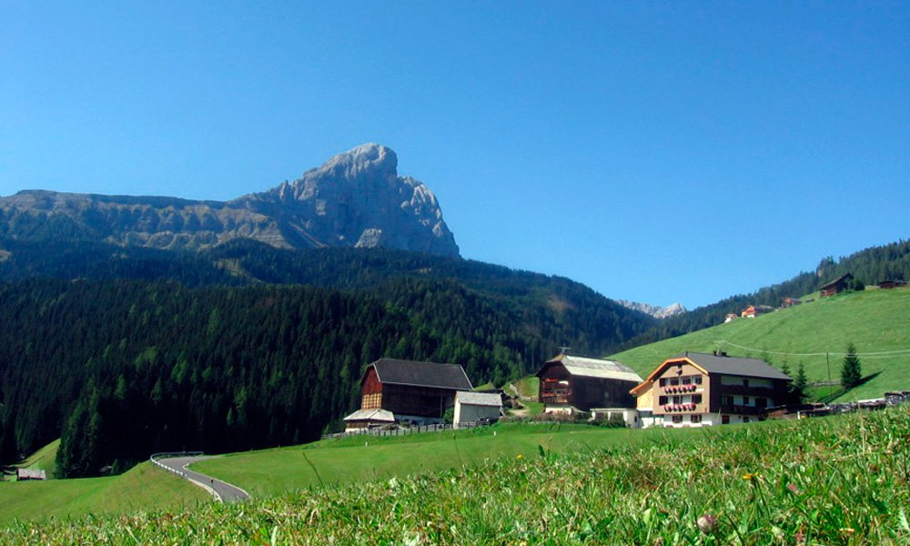 Ideal gelegene Motorrad Unterkunft in den Dolomiten